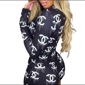 XS-XL Chanel monogram onesie